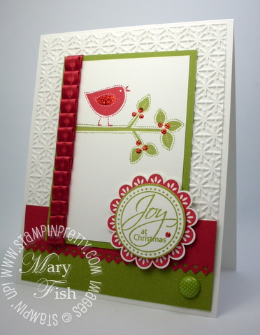 Stampin 39 up joy at christmas stampin 39 pretty for Mary fish stampin up