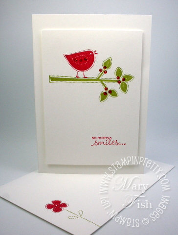 Stampin up best of everything rubber stamps thank you card idea