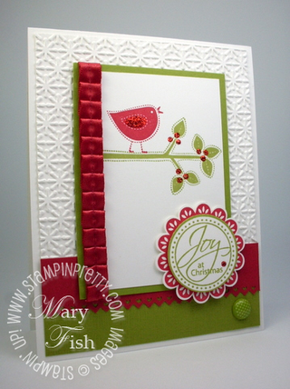 Stampin up best of everything holiday demonstrator blog card idea rubber stamps