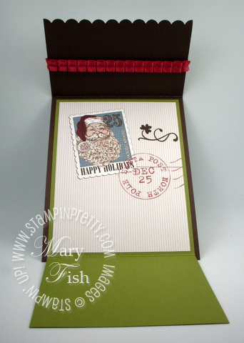 Stampin up punch holiday gift card fold demonstrator tutorial