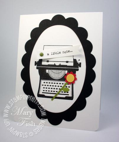 Stampin up typewriter big shot machine frame die punch occasions mini catalog