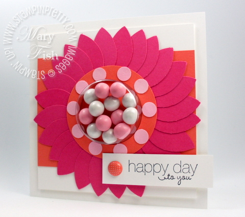 Stampin up blossom petals builder punch treat cup rubber stamps