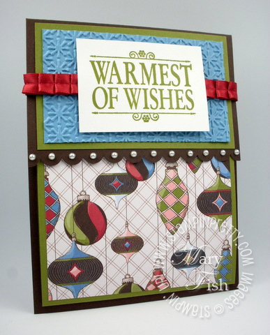 Stampin up scallop border punch holiday card demonstrator tutorial