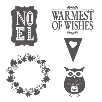 Warmest of wishes rubber stamps stampin up