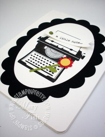 Stampin up typewriter big shot machine frame die punch occasions mini catalog 2