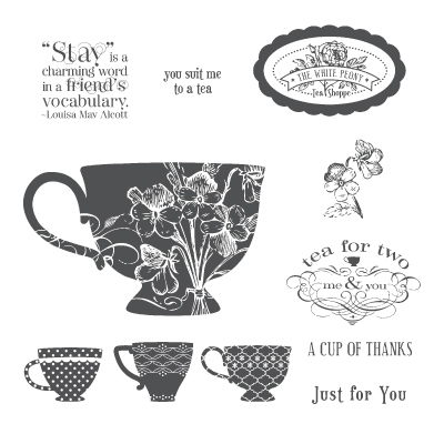 Tea shoppe rubber stamps stampin up