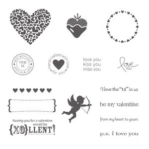 Ps i love you rubber stamps stampin up