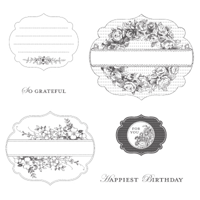 Apothecary art rubber stamps stampin up