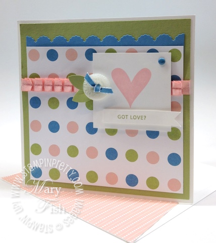 Stampin up valentines day card idea punch edgelits die big shot machine