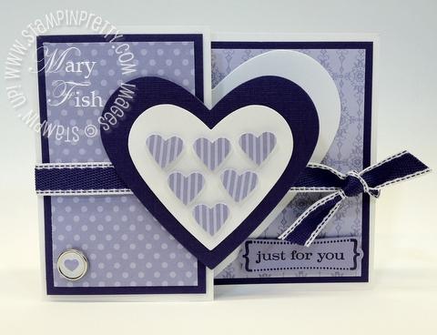 Stampin up valentine hearts framelits dies big shot folding card demonstrator tutorial