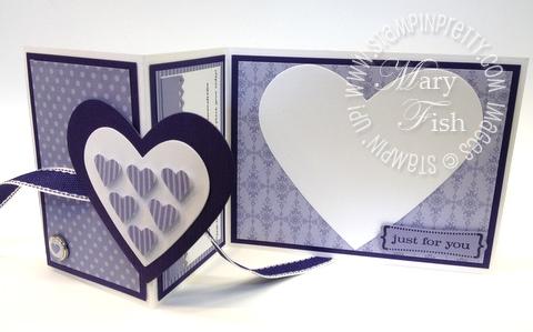 Stampin up valentine hearts framelits dies big shot fold card video tutorial