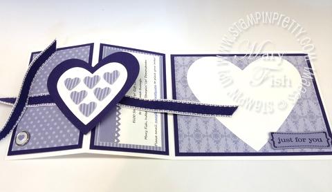Stampin up valentine hearts framelits dies big shot fold card demonstrator video tutorial punch