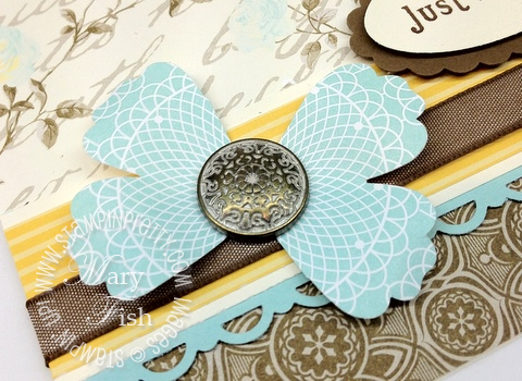 Stampin up demonstrator butterfly video tutorial blossom punch