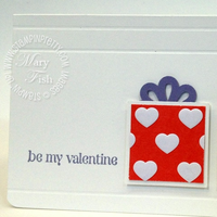 Stampin up square punch valentine card idea occasions mini catalog simply scored heart