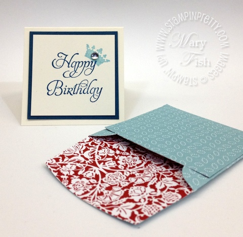 Stampin up saleabration elementary elegance bitty box big shot envelope die