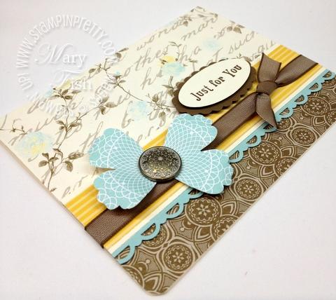 Stampin up attic boutique occasions mini catalog scallop oval blossom punch