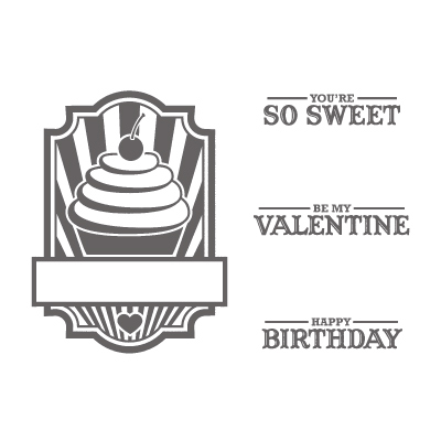 Sweet cake rubber stamps stampin up
