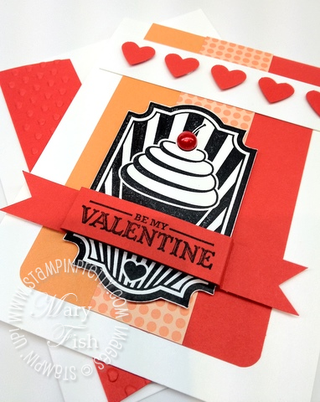 Stampin up valentine card idea occasions mini catalog punch video tutorial demonstrator