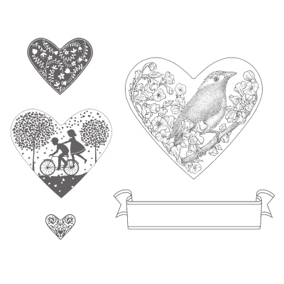 Take it to heart rubber stamps stampin up
