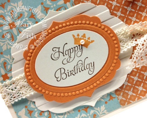 Stampin up labels framelits big shot machine saleabration catalog birthday card idea close