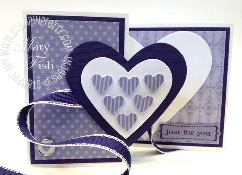 Stampin up valentine hearts framelits dies big shot fold card video tutorial ribbon