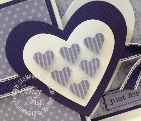 Stampin up valentine hearts framelits dies big shot fold card demonstrator video tutorial punch 2