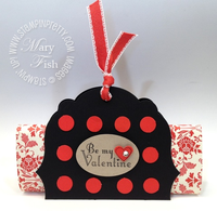 Stampin up valentine candy bar holder circle punch labels framelits die big shot machine