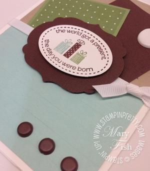 Stampin up masculine birthday card idea labels framelits big shot catalog