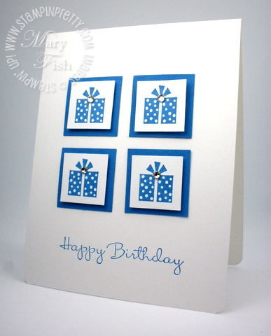 Stampin up happiest birthday wishes card idea square punch