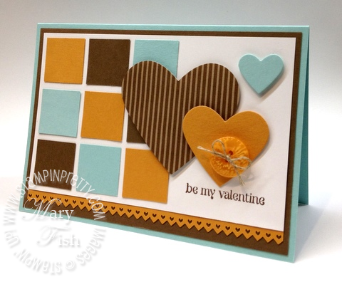 Stampin up catalog punch masculine valentine card heart