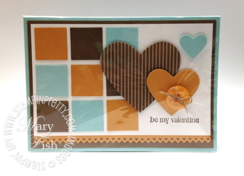 Stampin up catalog punch masculine valentine card heart demonstrator clear envelope