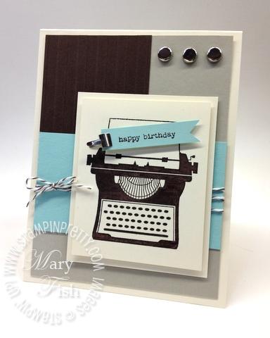 Stampin up occasions mini catalog just my type big shot machine masculine birthday card