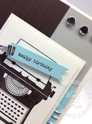 Stampin up bakers twine rubber stamps masculine birthday card idea catalog