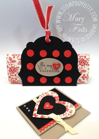 Stampin up pals paper arts valentine labels hearts framelits big shot dies