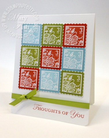 Stampin up saleabration occasions mini catalog square postage stamp punch