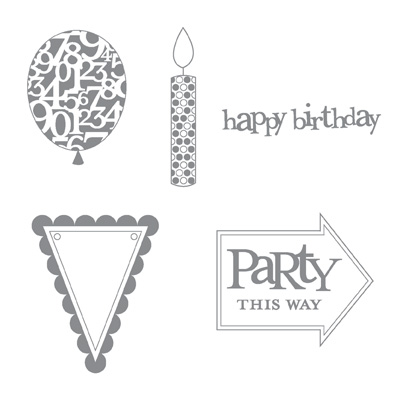 Party this way rubber stamps stampin up