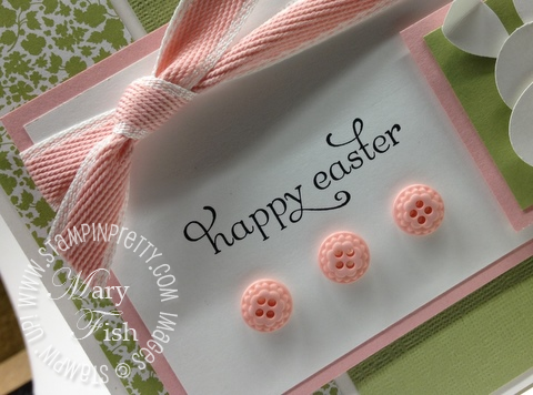 Stampin up easter card idea punch art bunny twitterpated demonstrator