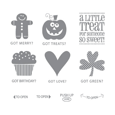 Got treats rubber stamps stampin up