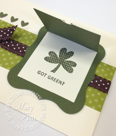 Stampin up big shot peekaboo frames bigz die owl builder punch st patricks day card idea