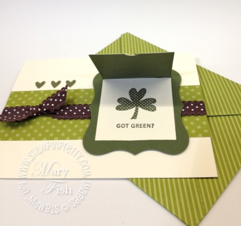Stampin up big shot peekaboo bigz l die st patricks day card idea owl punch