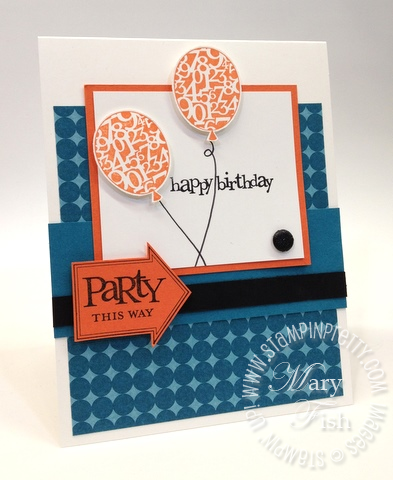 Stampin Up Birthday Party This Way Rubber Stamps Card Idea Masculine Saleabration