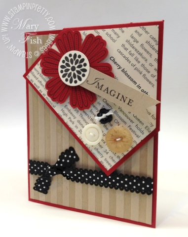 Stampin up bookmark demonstrator video tutorial card idea simply scored diagonal plate