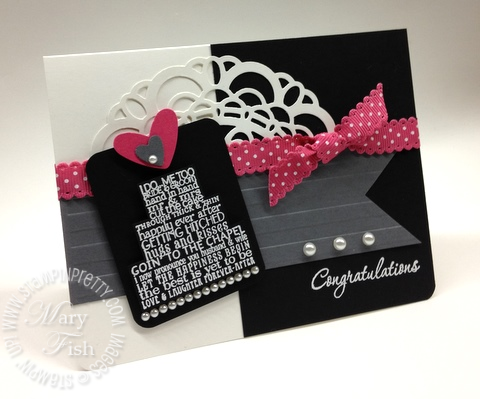 Stampin up wedding card idea heat embossing occasions mini catalog punch 2