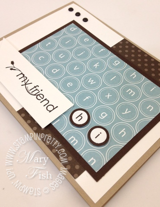 Stampin up rubber stamps circle square punch catalog blog tutorial demonstrator