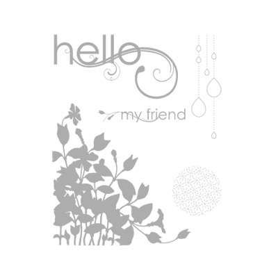 My friend rubber stamps stampin up