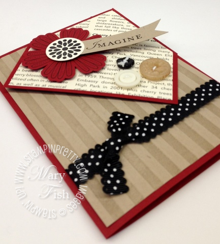 Stampin up bookmark demonstrator video tutorial card idea simply scored diagonal plate 4