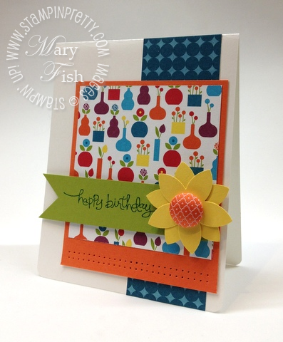 Stampin up demonstrator summer smooches catalog punch card idea