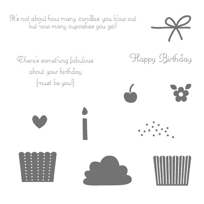 Create a cupcake rubber stamps stampin up