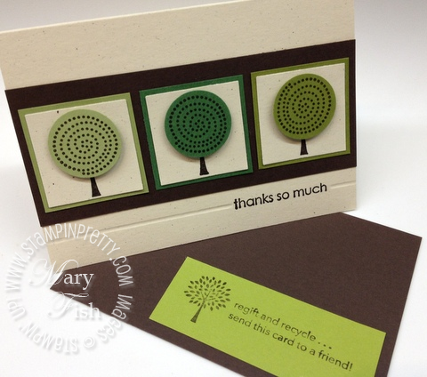 Stampin up retired stamps trendy trees circle punch masculine thank you card simply scored diagonal plate envelopes
