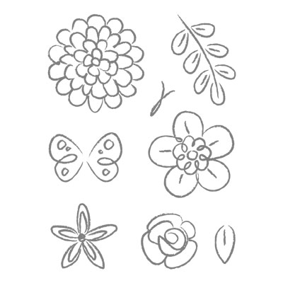 Flower fest rubber stamps stampin up